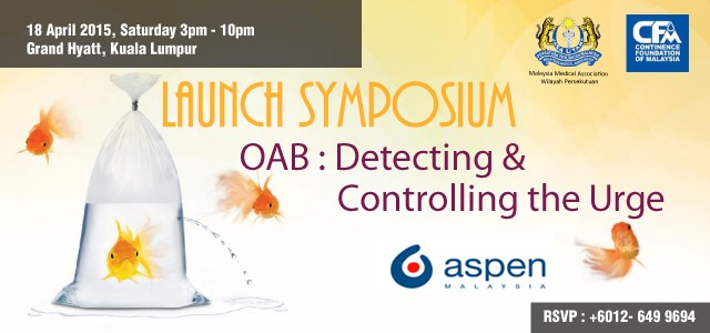 OAB: Detecting & Controlling the Urge For more information, please view the invitation card.   For reservation details (by 10 April 2015) Nikki Nah / Ee Yin 012-649 9694 / […]
