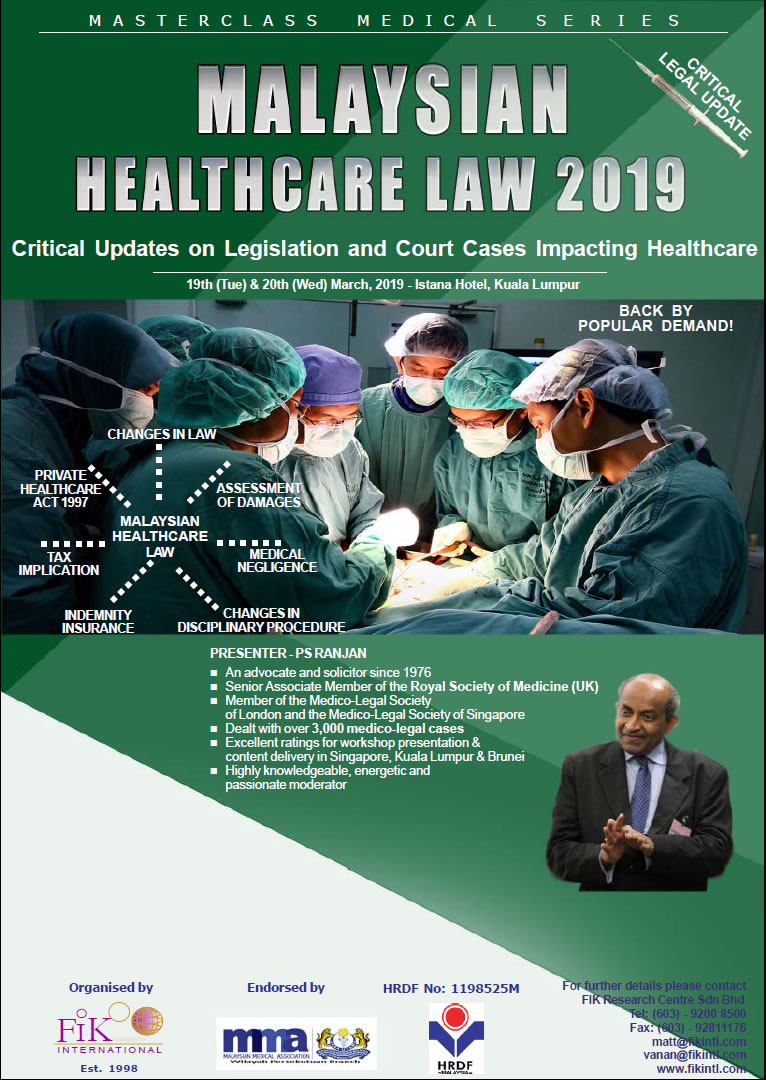 Malaysian Healthcare Law 2019
