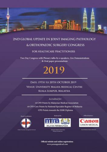 Full flyer - Joint Imaging & Orthopaedic Surgery Congress (19-20 Oct 2019) Updated Page 01