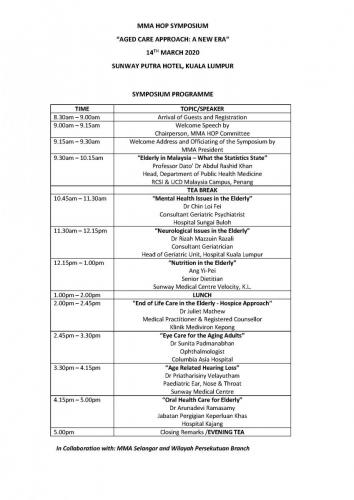 PROGRAMME OF EVENT