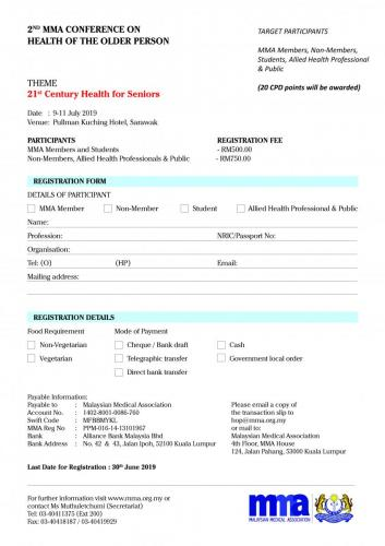 2nd MMA Conference on Health of the Older Person Registration and  Hotel Page 05