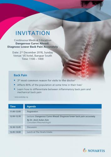 CME Invitation Diagnose Lower Back Pain Accurately Page 1